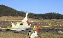 157명 태우고 추락한 에티오피아 여객기 사고 현장