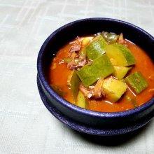 구수하고 얼큰한 맛의 여름철 찌개'호박감정'