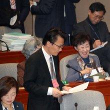 [포토] 국회 예결위 출석한 김수현 실장