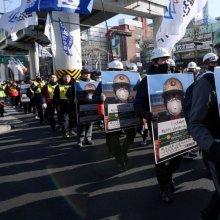 [포토] 청와대로 향하는 '1000인의 김용균들'`