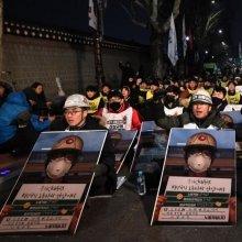 [포토] 청와대 앞 비정규직 노숙 투쟁문화제