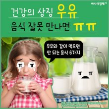 건강의 상징 '우유', 음식 잘못 만나면 'ㅠㅠ'
