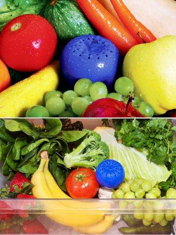 신선한 과일과 채소를 원할 때, 블루애플로 에틸렌 가스를 잡아라!