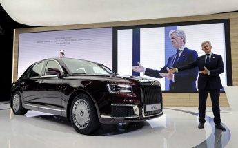 푸틴의 전용차 '슈퍼리치 버전' 선보여