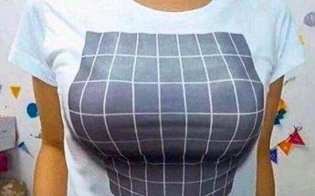 가슴 작아 고민인 여성들을 위한 '웃픈' T셔츠