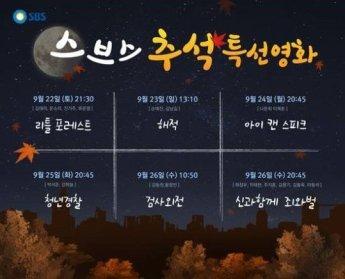 SBS, 추석영화 라인업 공개…'리틀 포레스트'부터 '신과함께'까지