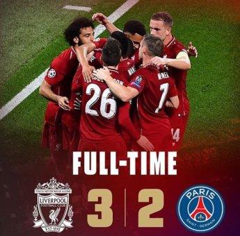 '피르미누 결승골' 리버풀, PSG에 3-2 승리