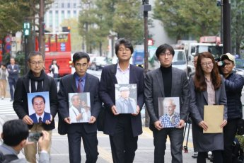 日신일철주금, 강제징용 피해자 변호인단 '문전박대'