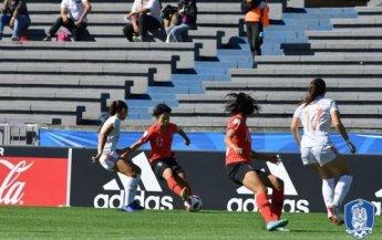 한국, U-17여자축구 월드컵서 스페인에 0-4 패배…8강 진출 빨간불