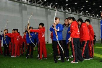 현대모비스, 中서 3번째 사회공헌활동 '어린이 양궁교실' 진행