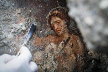 [포토]폼페이서 발굴된 관능적 벽화…2000년 지나도 생생