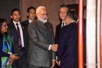 [포토]한국 기업인과 만난 모디 인도 총리