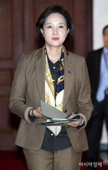 [포토] 경제활력대책회의 참석하는 유은혜 사회부총리