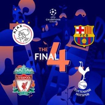 '챔스 4강 대진표' 토트넘 vs 아약스, 리버풀vs바르셀로나…경기는 다음달 1일