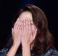 [ST포토] 한혜진, '손에 쏙 가려지는 얼굴'