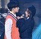 [ST포토] 김시현-김소희, '아슬아슬 밀착'