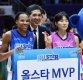 [ST포토] 커리-구슬, '공동 MVP 선정'