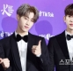 [ST포토] 마크-진영, '서로 다른 인사법'