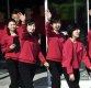 [ST포토] 북한 예술단 '좋은 분위기'