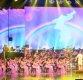 [포토]한반도 아래 공연 펼치는 북한 삼지연관현악단