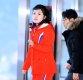 [ST포토] 발걸음 옮기는 북한 응원단
