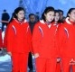 [ST포토] 북한 응원단 '미소 지으며 식당으로'