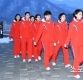 [ST포토] 북한 응원단 '줄서서 식당으로'