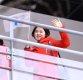 [ST포토] 북한응원단 '추위를 녹이는 미소'