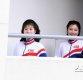 [ST포토] 북한 응원단 '행복한 미소'