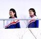 [ST포토] 북한 응원단 '미소 보이며'