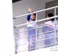 [ST포토] 북한 응원단 '반가운 손인사'