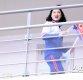 [ST포토] 북한 응원단 '오른손에 인공기 왼손엔 한반도기'