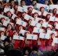 [포토] 응원하는 북한 응원단