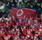 [포토]인공기 펄럭이는 북한 응원단