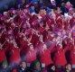 [포토] 인공기 흔드는 북한 응원단