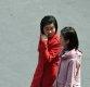 [포토] 거리 걷는 북한 평양 여성들