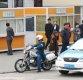 [포토]북한 경찰 오토바이와 택시