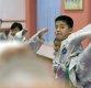[포토]발차기 훈련하는 북한 태권도 신동