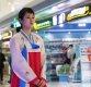 [포토] 북한 평양순안공항 대합실 직원