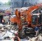 [포토]용산역 앞 4층 건물 완전 붕괴