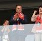 [한국-멕시코] 문재인 대통령, 붉은 악마 머플러 두르고 축구대표팀 응원