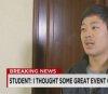 """북한 억류 한인 대학생, CNN과 인터뷰 \""""사실 잡히기를 원했다\"""""""