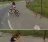 러시아 여성, 자전거 타다 치마가 훌러덩