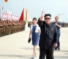 북한 김정은, 동아시안컵 우승 여자축구선수들 공항까지 마중 (서울=연합뉴스)
