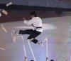 북한 태권도 시범단의 공연