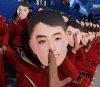 '김일성 가면' 응원 논란…네티즌 반응 보니