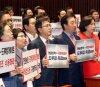 洪-김성태, 남북 정상회담 미묘한 온도차