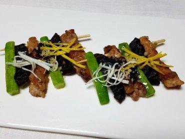 닭고기와 채소가 아름답게 어울려진 맛 '닭산적'