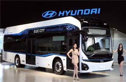현대차, 1회 충전에 290km 전기버스 '일렉시티' 공개