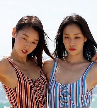 탑 모델들의 셀프 화보